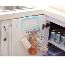 kitchen cabinet sponge holder plastic towel rack kitchen cupboard hanging wash cloth organizer