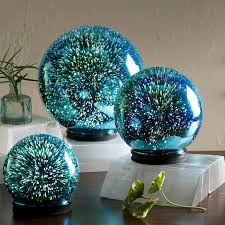 wind weather 3d lighted mercury glass balls 3 cloches and