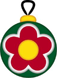 christmas ornament flower clip art
