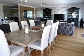 contemporary white wash dining room table whitewash wood pottery