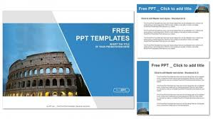 beautiful view of famous ancient colosseum powerpoint templates