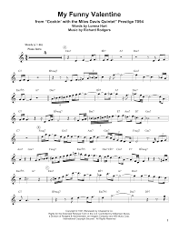 my funny valentine sheet music by miles davis trumpet