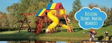premium wooden climbing frames u0026 swing sets