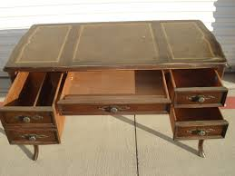 shabby chic writing desk desk sligh lowry tooled leather top french provincial queen anne