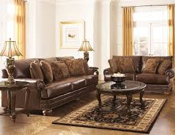 ashley 99200 chaling antique leather sofa set
