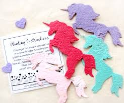 seed paper favors 12 unicorn birthday party favors seed paper plantable