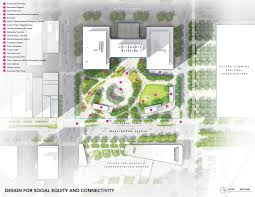 Amphitheater Floor Plan by City County Building Plaza Design Competition David Rubin Land