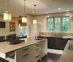 quartersawn oak cabinets with painted kitchen island omega