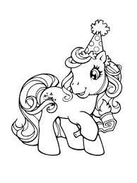 coloriage bon anniversaire petit poney