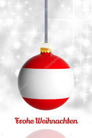 merry christmas austria christmas ball flag u2014 stock