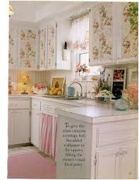 decorations charming modern polyester kitchen floral wallpaper with roses on cupboards attractive displays on