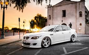 bmw m5 slammed bmw m5 white tuning city wallpaper 1680x1050 16207