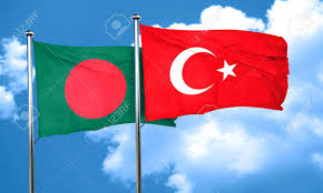 Bangladesi Flag Bangladesh Flag With Turkey Flag 3d Rendering Stock Photo