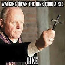 Food Photo Meme - walking down the junk food aisle meme