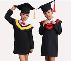 cap and gown for preschool kids black school preschool graduation gown cap in clothing sets