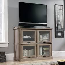 Sauder Harbor View Computer Desk With Hutch Salt Oak by Sauder Barrister Lane Highboy Tv Stand For Tvs Up To 42