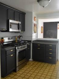 Grey Cabinets In Kitchen by Kitchen Furniture Dark Gray Cabinets Small Corner Kitchen Ideas