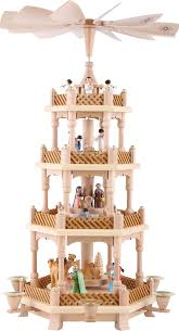 4 tier pyramid nativity painted 54 cm 21in by richard