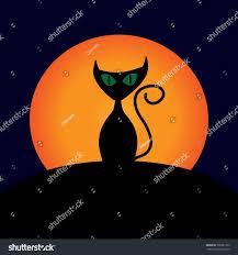 cat moon sign image black stock illustration 708381769