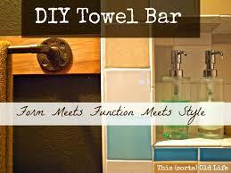 this sorta old life custom diy towel bar