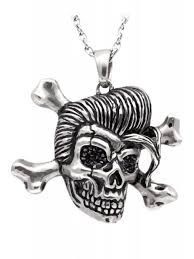 fashion skull necklace images Controse rockabilly skull necklace jpg