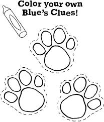 face blues clues coloring