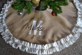 burlap tree skirt shabby chic christmas tree skirt christmas lights decoration