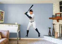 life size aaron judge fathead wall decal shop new york yankees