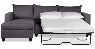 halley 2 piece full sofa bed sectional with left facing chaise