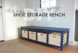 impressive storage bench for shoes shoe storage bench chunky hall