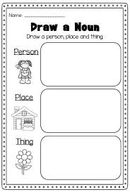 noun worksheets kindergarten free worksheets library download
