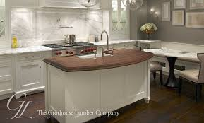 White Kitchen Wood Island Countertop Walnut Wood Countertop With - Kitchen island with sink
