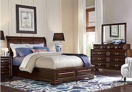 sleigh bedroom set queen mill valley ii cherry 5 pc queen sleigh bedroom traditional