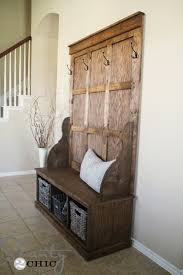 creative of hall tree bench plans and shanty in with storage