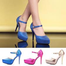 navy blue strappy high heel sandals is heel