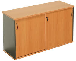 express sliding door storage credenza office stock