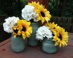 jar floral centerpieces jar centerpieces etsy