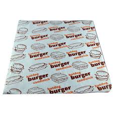 burger wrapping paper printed food wrapping paper at rs 0 5 food wrap paper