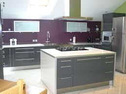 cuisine aubergine et gris cuisine quipe aubergine cuisine blanche mur aubergine chambre gris