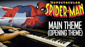 spectacular spider man main theme opening theme piano cover free