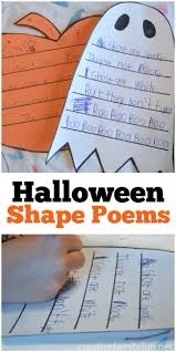 halloween shape poems poem and activities