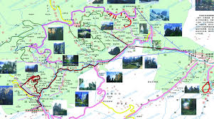 Forest Park Map Zhangjiajie Map