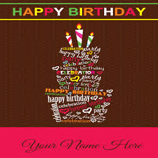 Sweet Birthday Cards Write Your Name On Sweet Birthday Cards For Friends