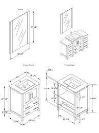 Bathroom Cabinet Height Vanity Fvn62 122412 Uns Ai Bathroom Vanity Dimensions Standard