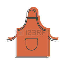 Apron Designs And Kitchen Apron Styles Kitchen Apron Chef For Cooking Vector Illustration