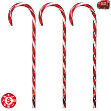 3 peppermint solar light stakes ebay