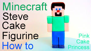 Cake Decorating Figures How To Make Minecraft Steve Cake Topper Figurine How To By Pink Cake Princess