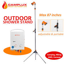 Portable Outdoor Shower Kit - camplux portable standing outdoor shower stand pool side spa