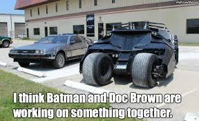 Doc Brown Meme - batman and doc brown meme collection