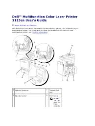 dell multifunction color laser printer 3115cn user u0027s guide manual